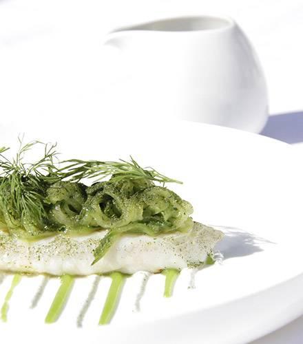 Gastronomic cuisine menu at Biot restaurant